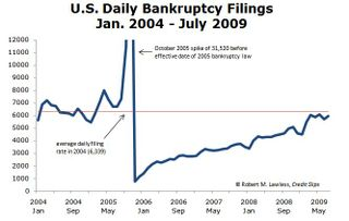 Monthly Bankruptcy Filings.Jan 2004 to July 2009