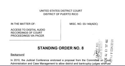 Standing Order 8